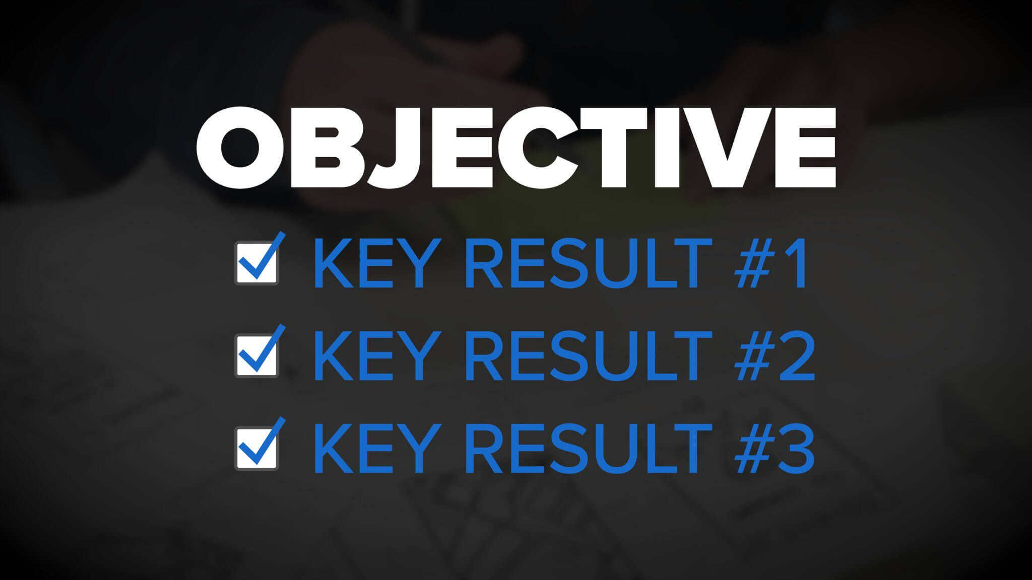 Okrs Obtectives And Key Results Infographic