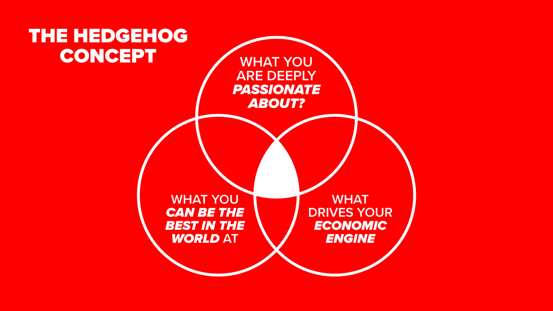The Hedgehog Concept From Good To Great