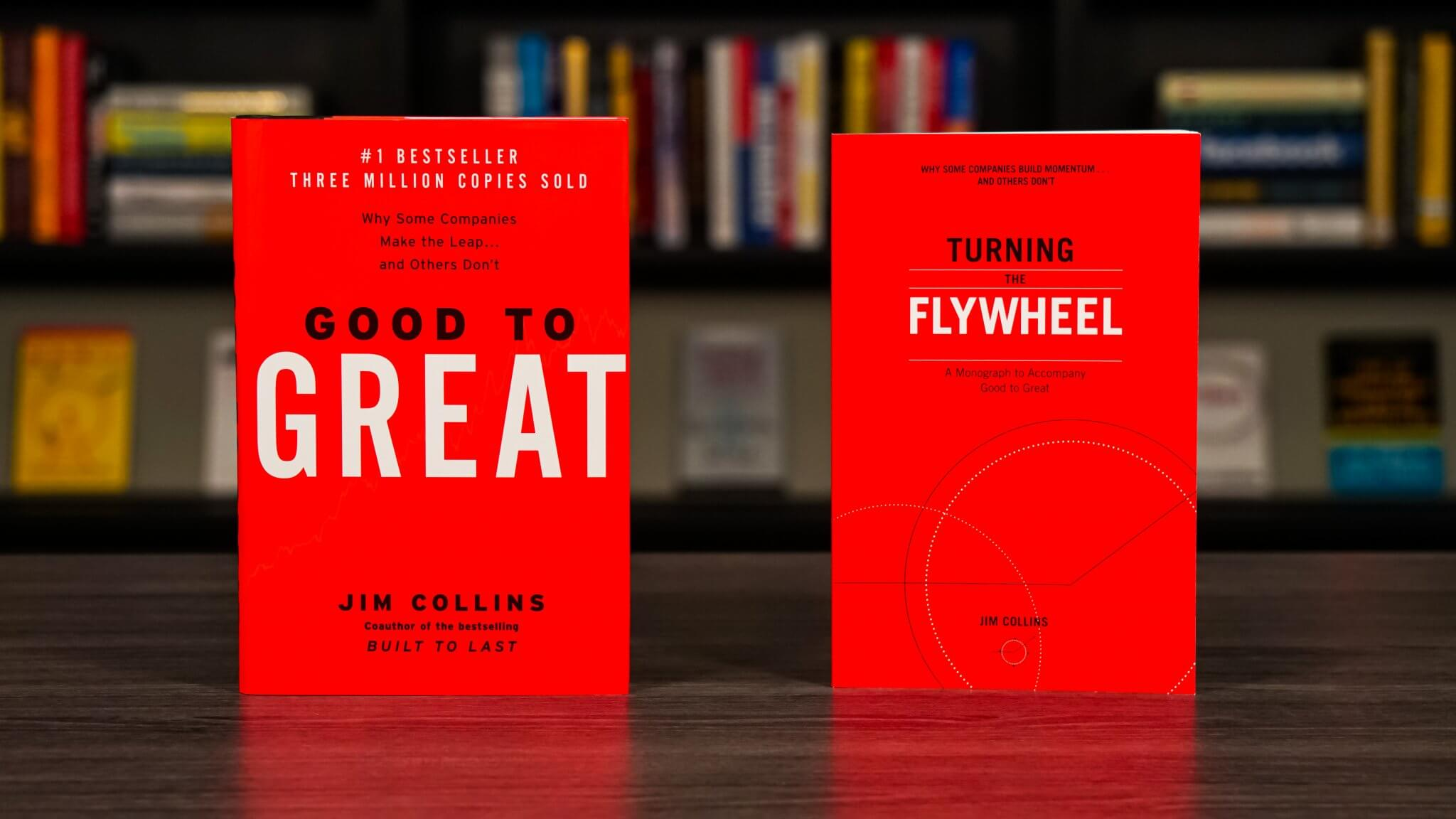 Good To Great And Turning The Flywheel By Jim Collins Book Covers