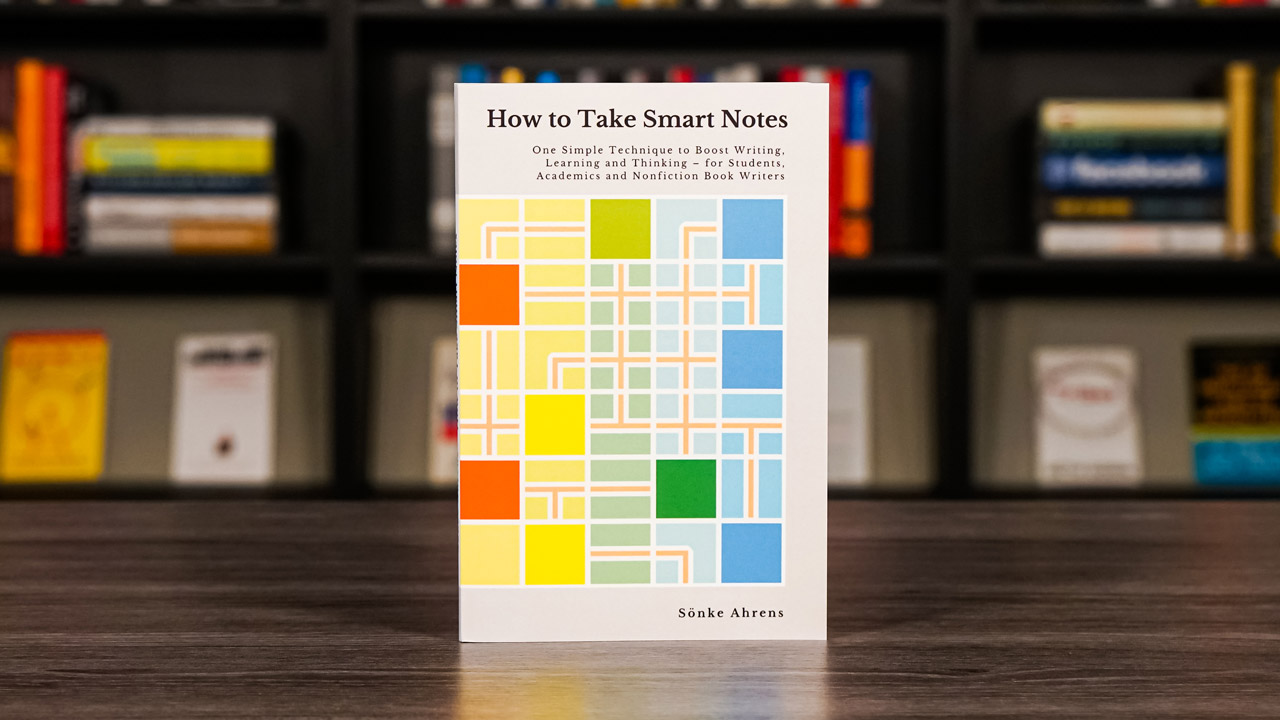 How To Take Smart Notes By Sönke Ahrens Book Cover