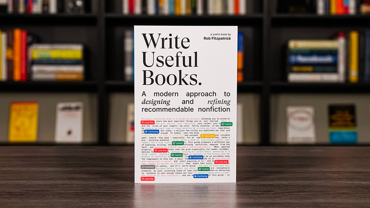 Write Useful Books By Rob Fitzpatrick Book Cover